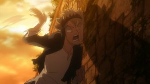 Black Clover Asta wall slam