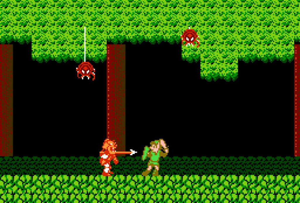 combat in Adventure of Link